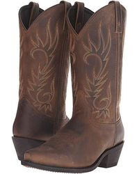 515a9ee2183 Lucchese Bootmaker Carrington W Toe Cowboy Boot in Brown for Men - Lyst