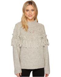 Discount Best Prices Sale How Much Rachel Zoe Woman Pompom-embellished Tasseled Wool-blend Sweater Light Gray Size L Rachel Zoe All Size 2klPL1c