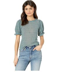 34d109be4d Free People 'free Falling' Shirttail V-neck Tee in Orange - Lyst