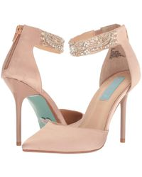 1bfd46cf925 Lyst - Betsey Johnson Hazil (silver Satin) High Heels in Metallic