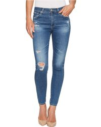 AG Jeans - Farrah Skinny Ankle In 14 Years Blue Nile Destructed - Lyst