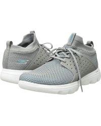 826ee31fc Skechers - Go Walk Evolution Ultra Turbo (grey/blue) Shoes - Lyst