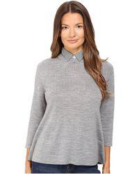 bdc5241daa6a2 Lyst - Ted Baker Nellia Secret Trellis Collared Sweater in Black