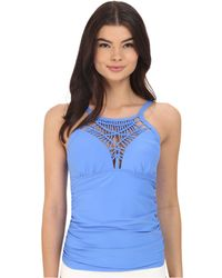 Athena - Cabana Solids High Neck Tankini Top - Lyst