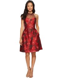 Maggy London - Poppy Jacquard Halter Fit & Flare Dress - Lyst