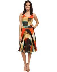 Donna Morgan - Sleeveless Dress W/ Pleated Mid-length Skirt - Lyst
