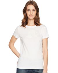 Lauren by Ralph Lauren - Embroidered Monogram T-shirt - Lyst