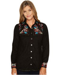 Scully | Anaya Beautfully Embroidered Studded Top | Lyst