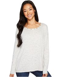 Jag Jeans - Aggie Tee With Studs In Burnout Jersey - Lyst