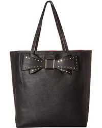 Betsey Johnson - Stud Bow Structured Tote - Lyst