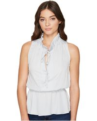 Romeo and Juliet Couture - Ruffle Neck Woven Top - Lyst