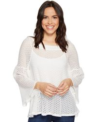 Nally & Millie - Bell Sleeve Lace Top - Lyst