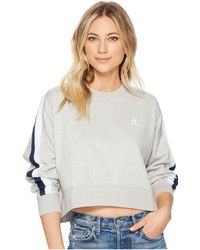 Converse - Star Chevron Track Cropped Crew - Lyst