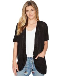 B Collection By Bobeau - Finley Rouched Cardigan With Tassel Trim - Lyst