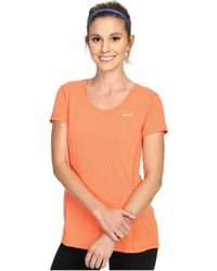 Nike - Dry Contour Running Tee - Lyst
