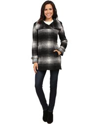 Calvin Klein - Plaid Wool With Zip Closure And Sleeve Detail - Lyst
