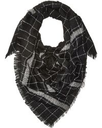 Hat Attack - Windowpane Scarf With Border Stripe - Lyst