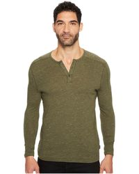 John Varvatos - Long Sleeve Knit Henley With Vertical Pickstitch Sleeve Seam Detail K3253t3b - Lyst