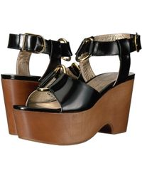 97a76b4b64a Lyst - Splendid Janice Espadrille Wedge Sandal in Black