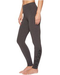 25c4b8a5b9d68 Lyst - adidas Essentials Linear Logo Leggings in Gray