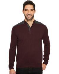 Perry Ellis - Color Block Quarter Zip Sweater - Lyst