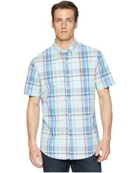 U.S. POLO ASSN. - Short Sleeve Classic Fit Plaid Shirt - Lyst