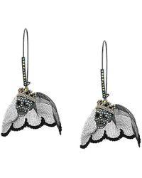 d0072f7bc Betsey Johnson - Skull Bride Long Drop Earrings (black) Earring - Lyst