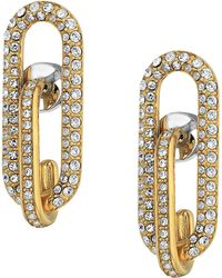 Michael Kors - Iconic Pave Link Earrings - Lyst