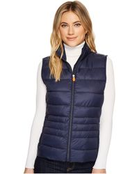 Save The Duck - Short Quilted Vest - Lyst