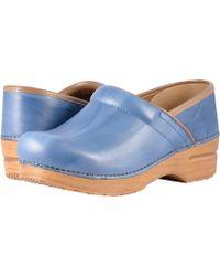 87661e1784f Lyst - Dansko Professional Clog in Blue
