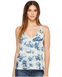 14491ff5dfff3 Lyst - Calvin Klein Womens Cotton Striped Tank Top in White
