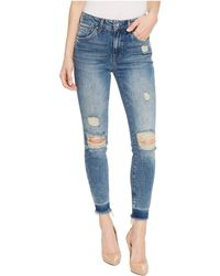 Mavi Jeans - Tess High-rise Super Skinny Ankle In Shaded Ripped Vintage - Lyst