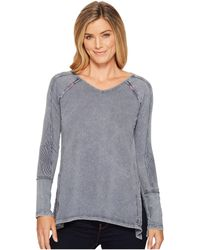 Mod-o-doc - Lightweight French Terry Raglan Pullover With Rib Contrast - Lyst