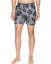 Scotch & Soda - Printed Melange Swim Shorts With Cut Sewn Waistband (combo B) Men's Swimwear - Lyst