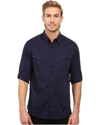 Kenneth Cole - Long Sleeve Stretch Military - Lyst