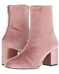 Free People - Cecile Velvet Boot (rose) Boots - Lyst