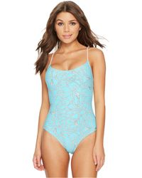 MICHAEL Michael Kors - Twisted Rope Cross-back Lace-up One-piece Swimsuit W/ Removable Soft Cups - Lyst