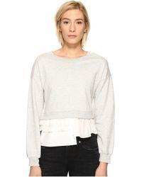 Boutique Moschino - Sweatshirt W/ Bottom Ruffle - Lyst