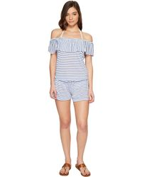 Splendid - Chambray All Day Off The Shoulder Romper Cover-up - Lyst