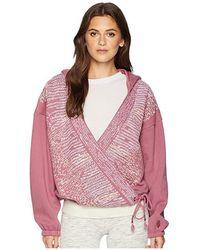 839699ed Free People - Sashiko Wrap Hoodie (plum) Sweatshirt - Lyst