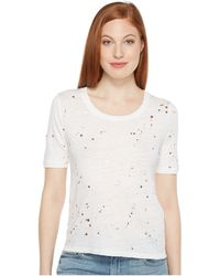 INTROPIA - Holey T-shirt - Lyst