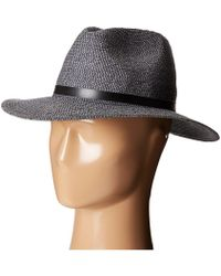 Karen Kane - Tweed Braid Fedora Hat - Lyst