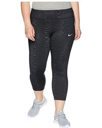 82f67a96c64abf Nike Power Epic Lux Mesh Legging in Black - Lyst
