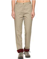 Woolrich - Alderglen Flannel Lined Chino Pants - Lyst