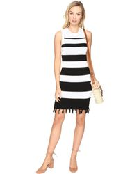 Jack BB Dakota - Dri Stripe Sweater Dress With Fringe - Lyst