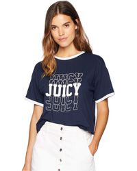 Juicy Couture - Juicy Mirrored Logo Graphic T-shirt - Lyst b93bbda06bd5