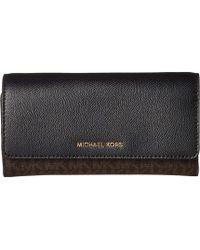 65827b24f4a4e4 MICHAEL Michael Kors Peek-a-boo Leather Continental Wallet in Black ...