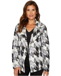 Two By Vince Camuto | Broken Houndstooth Faux Fur Coat | Lyst