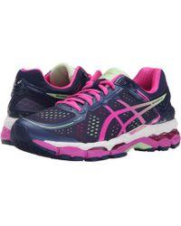 Asics - Gel-kayano 22 Women D Round Toe Synthetic Blue Running Shoe - Lyst