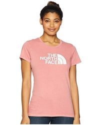 The North Face - Short Sleeve 1/2 Dome Pigment Crew Tee (faded Rose/tnf White) T Shirt - Lyst